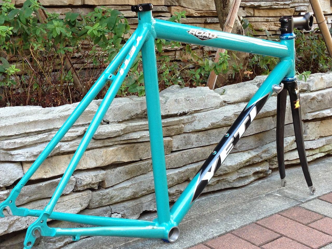 自転車の 自転車 アルミフレーム 修理 : ... Project イエティ ロードフレーム